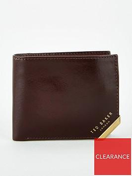 ted-baker-metal-corner-bi-fold-coin-wallet-brown