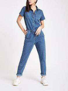 river-island-denim-jumpsuit--blue