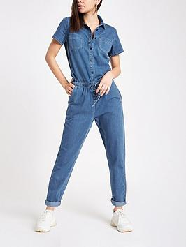 river-island-denim-jumpsuit--blue