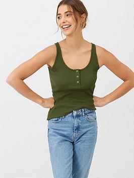 v-by-very-the-essential-popper-front-rib-vest-khaki