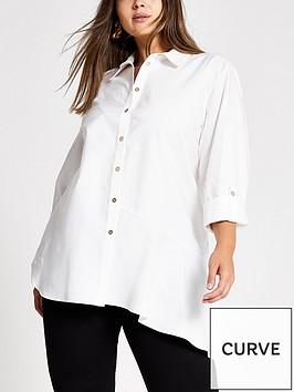 ri-plus-asymetric-hem-shirt-white