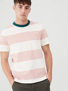 farah-soft-striped-ringer-t-shirt-whitepink
