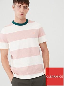 farah-soft-striped-ringer-t-shirt-whitepink