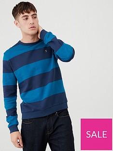 farah-heritage-stripe-sweatshirt-blue