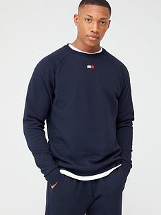 tommy-hilfiger-fleece-crew-neck-sweatshirt-navy