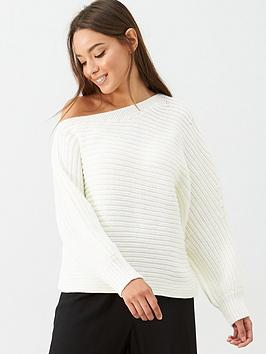 v-by-very-off-the-shoulder-horizontal-rib-slouch-jumper-cream