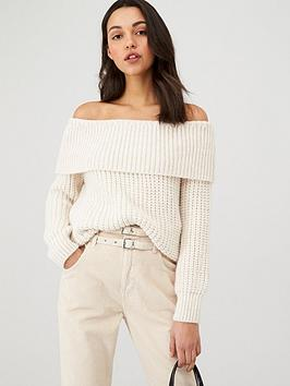 v-by-very-chunky-off-the-shoulder-jumper-cream