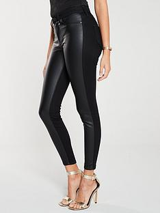 river-island-river-island-pu-denim-molly-jeggings-black