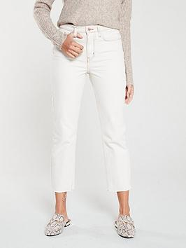 river-island-straight-leg-jeans--cream