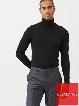 ted-baker-fitted-roll-neck-jumper-black