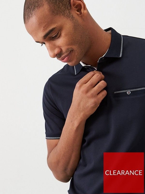 Ted Baker Mens Polo Shirt Laundered RRP £69 Size 3,4,5 Blue