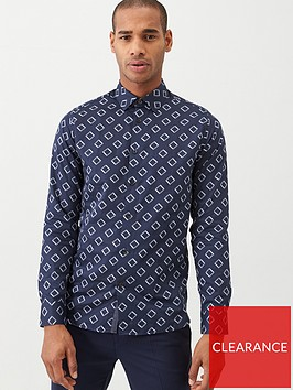 ted-baker-bien-long-sleeve-diamond-print-shirt-navy