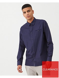 ted-baker-long-sleeve-checked-shirt-indigo