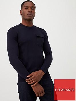 ted-baker-patch-pocket-sweatshirt-navy