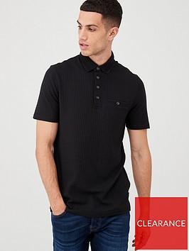 ted-baker-textured-short-sleeve-polo-shirt-black