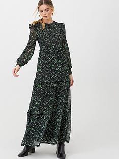 v-by-very-smocked-tier-maxi-dress-green-floral