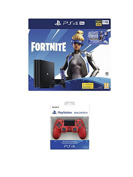 playstation-4-fortnite-neo-versa-ps4-pro-bundle-with-additional-dualshock-controller