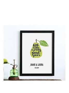 personalised-pear-poster