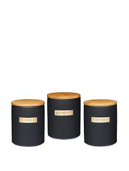 masterclass-masterclass-stoneware-and-brass-effect-tea-coffee-sugar-caddy-with-airtight-bamboo-lid