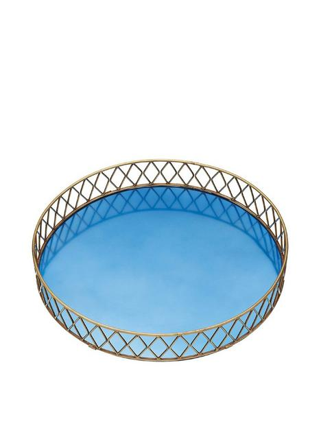 barcraft-stainless-steel-blue-and-brass-finish-drinks-tray