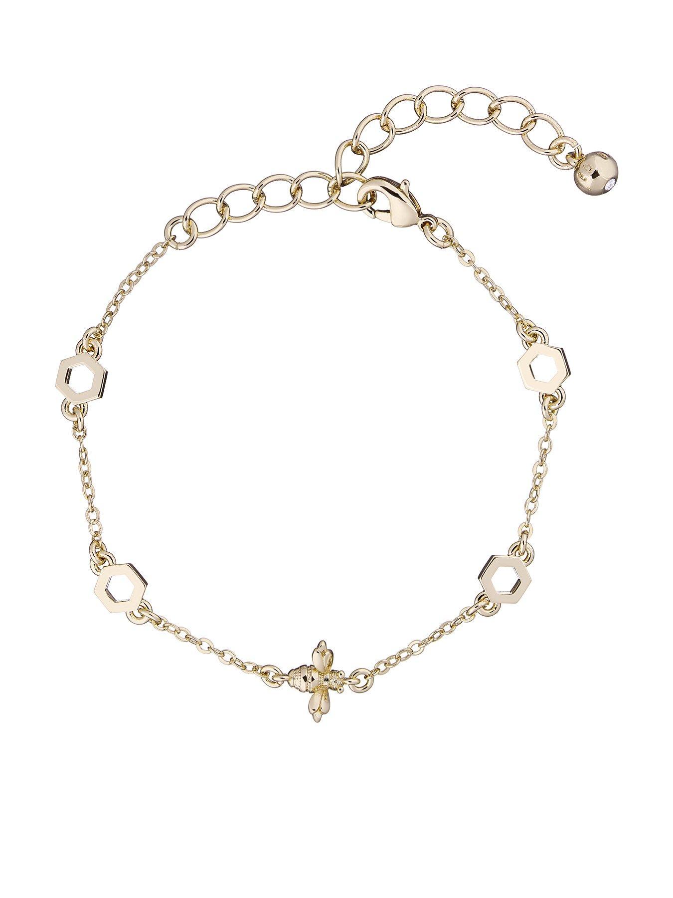 Pretty Soft Black Leather Womens Slim Gold Leaf Charm Bracelet Bangle Gift Boxed