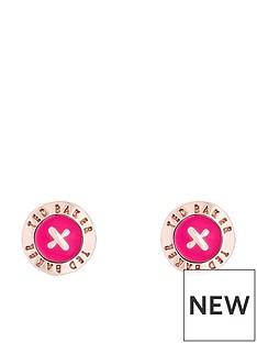 ted-baker-eisley-enamel-mini-button-earrings-rose-gold