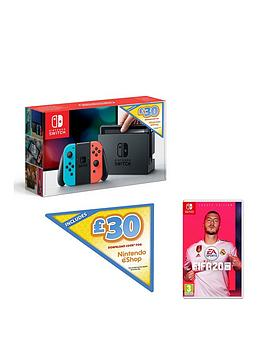 nintendo-switch-nintendo-switch-neon-console-with-30-eshop-voucher-code-and-fifa-20-legacy-edition