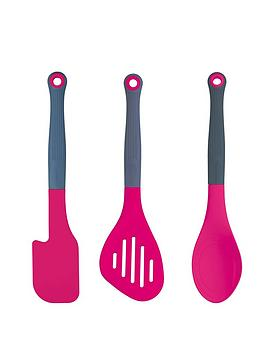 colourworks-nbsp3-piece-silicone-headed-kitchen-utensil-set-pink