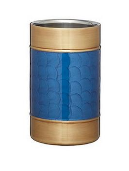 barcraft-stainless-steel-blue-and-brass-finish-wine-cooler