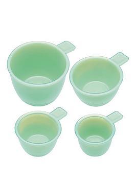 kitchencraft-set-of-4nbspmilk-glass-measuring-cups