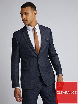 burton-menswear-london-burton-grindle-check-slim-suit-jacket-navy