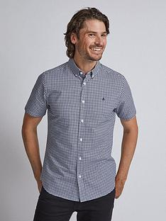 burton-menswear-london-burton-short-sleeve-gingham-oxford-shirt-navy