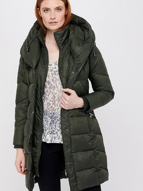 arriving hot-selling newest good Monsoon Laurel Belted Shawl Long Padded Coat