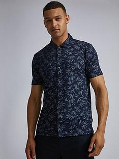 burton-menswear-london-burton-palm-print-shirt-navy
