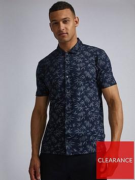 burton-menswear-london-burton-palm-print-shirt-navy