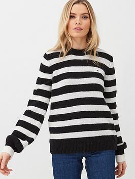 tommy-hilfiger-camille-crew-neck-sweater-blackwhite