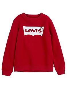levis-boys-batwing-crew-neck-sweat-top-red