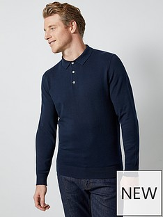 burton-menswear-london-burton-knitted-polo-top-navy