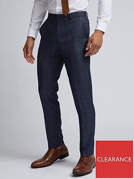 burton-menswear-london-burton-grindle-check-slim-suit-trousers-navy
