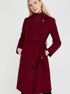 monsoon-rita-wrap-collar-coat-long-burgundy
