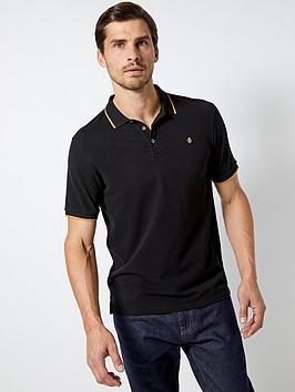 burton-menswear-london-burton-tipped-pique-polo-shirt-black