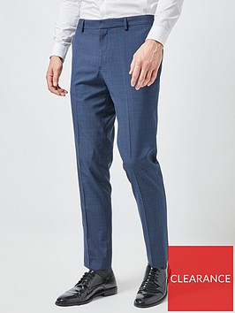 burton-menswear-london-burton-slim-fit-highlight-check-trousers-blue