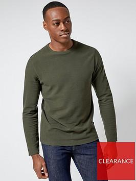 burton-menswear-london-burton-long-sleeve-waffle-t-shirt-green