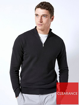burton-menswear-london-burton-half-zip-knit-black