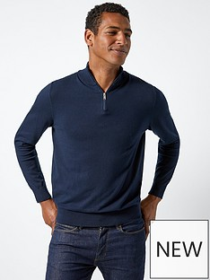 burton-menswear-london-burton-half-zip-knit-navy