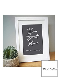 personalised-home-sweet-home-a4-framed-print