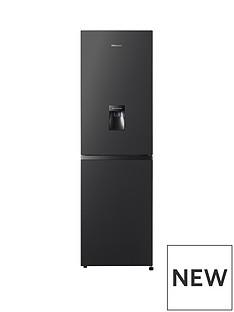 Hisense 55cm Total No Frost combi Fridge Freezer - Black Best Price, Cheapest Prices