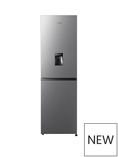 Hisense 55cm Total No Frost combi Fridge Freezer - Stainless Steel Look Best Price, Cheapest Prices