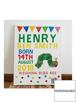 personalised-hungry-caterpillar-canvas