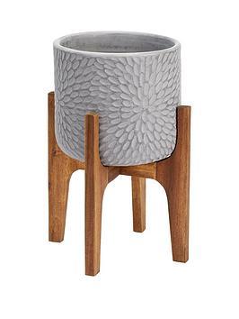 petal-print-pot-on-wooden-legs-light-grey